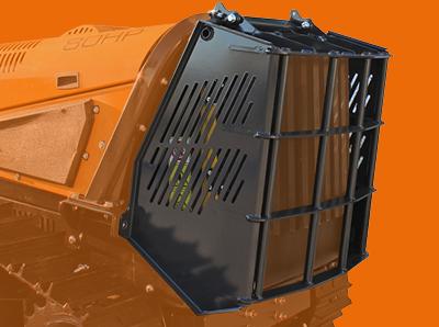 robomax - trincia forestale - protezione radiatore - energreen macchine professionali