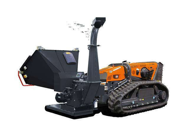 robomax - attrezzature - bio shredder - biotrituratore - testata forestle a mazze girevoli - energreen macchine professionali