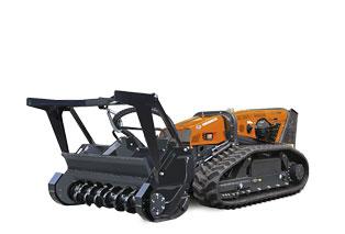 attrezzature macchina radiocomandata robomax fae forestry 150t testata forestale denti fissi