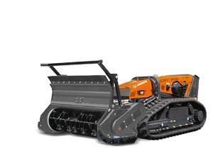 attrezzature macchina radiocomandata robomax forestry 150h testata forestale mazze girevoli
