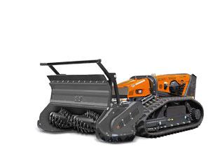attrezzature macchina radiocomandata robomax forestry 150t testata forestale denti fissi