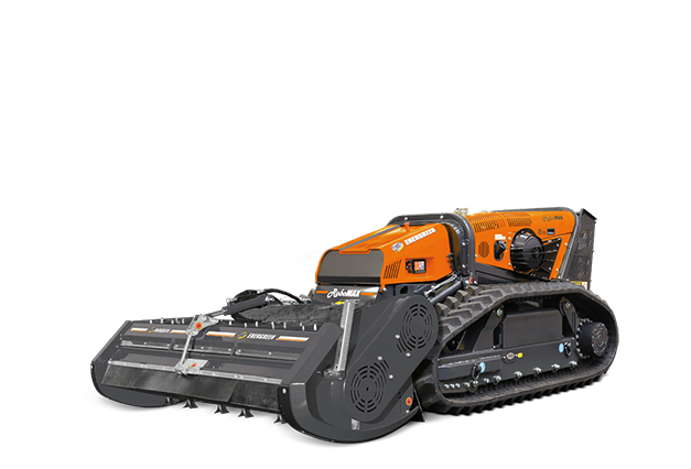 attrezzature macchina radiocomandata robomax head180 testata trinciante