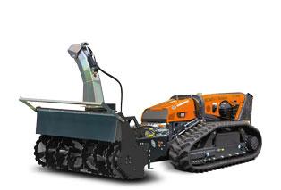 attrezzature macchina radiocomandata robomax snow blower turbo fresa