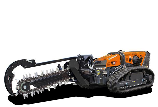 attrezzature macchina radiocomandata robomax trencher 1500 catenaria