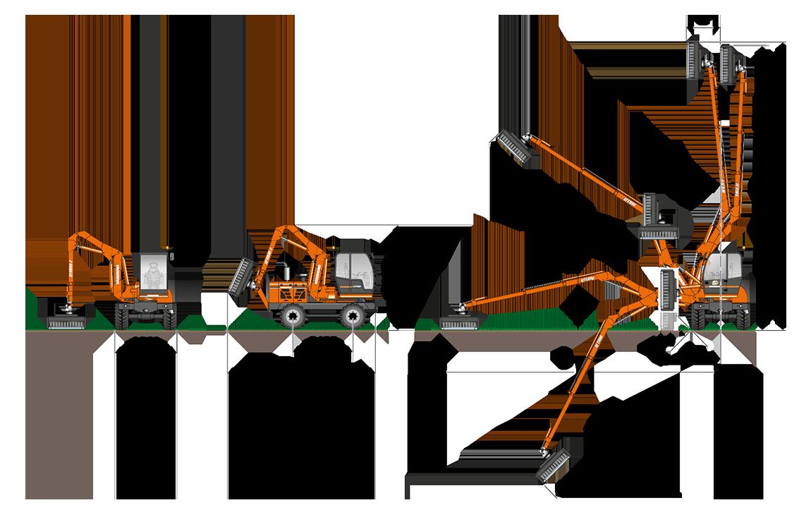 diagramma di lavoro ilf s1500 braccio f