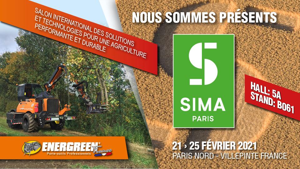 sima 2021 - parigi - 21/25 febbraio 2021 - energreen macchine professionali