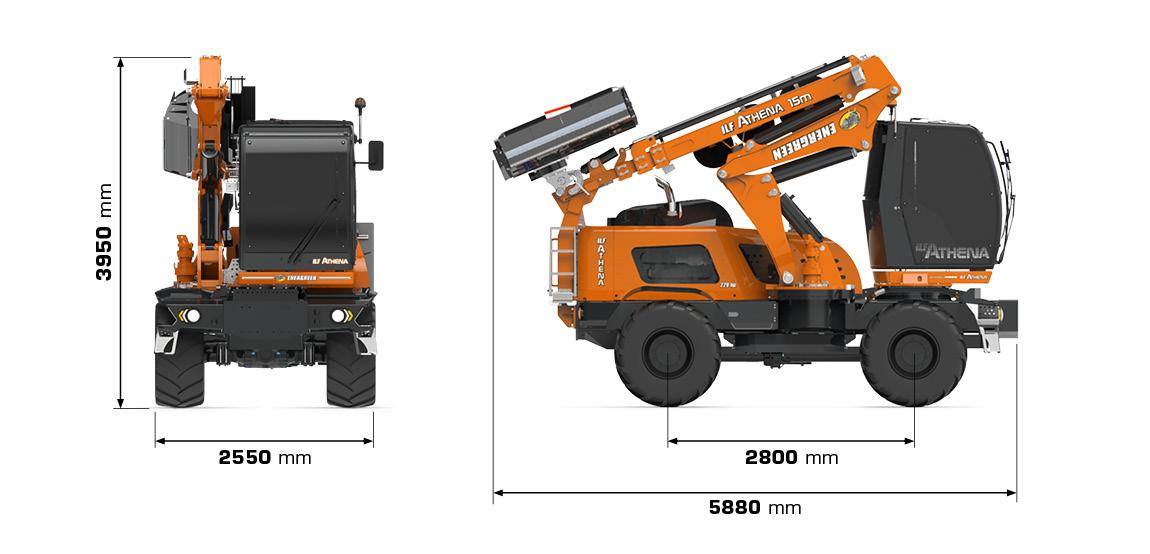 ilf athena - dimensioni - energreen macchine professionali