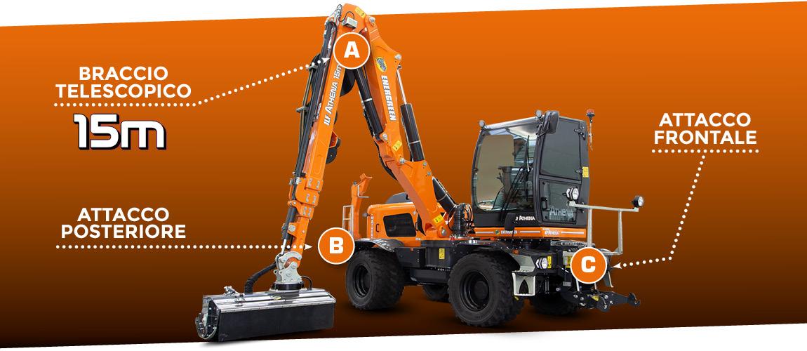 ilf athena - multifunzionalità - braccio telescopico 15 metri - attacco anteriore - attacco posteriore - energreen macchine professionali