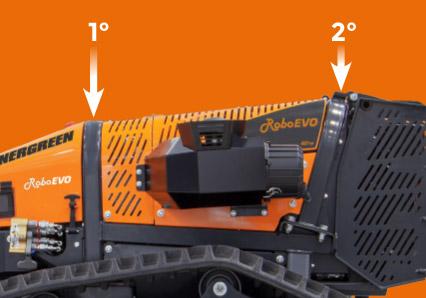 roboevo - doppio roll bar integrato - trinciatrice cingolata radiocomandata - energreen macchine professionali
