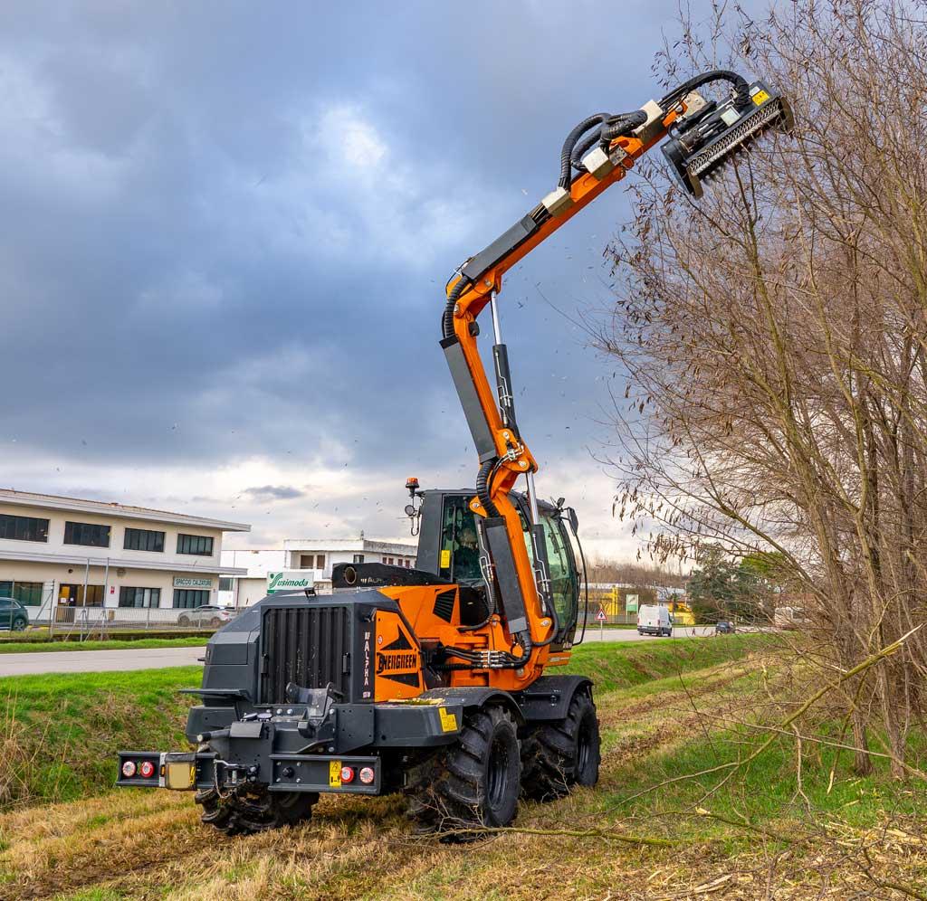 ilf alpha - semovente idrostatico - forestry head - testata forestale - energreen macchine professionali