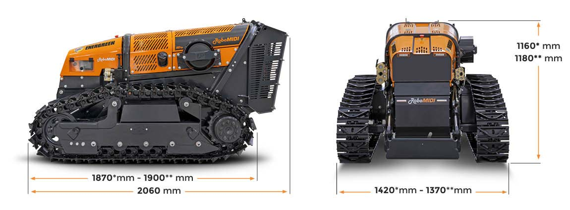 robomidi - dimensioni - energreen macchine professionali