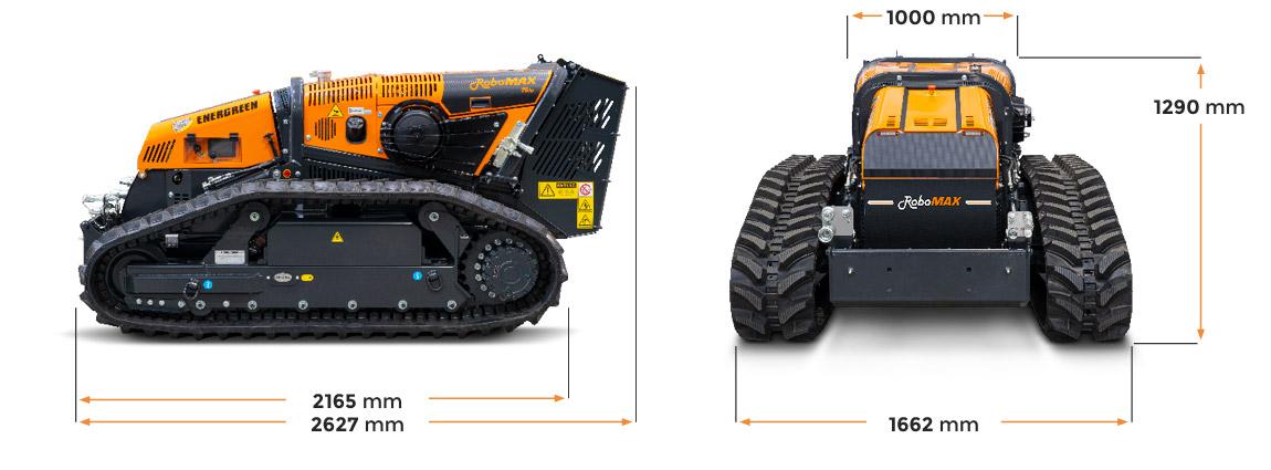 robomax - trincia forestale - dimensioni - energreen macchine professionali