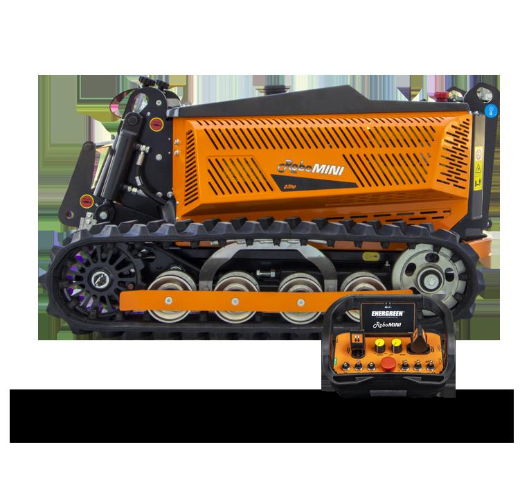 robomini - macchina radiocomandata tagliaerba - energreen macchine professionali