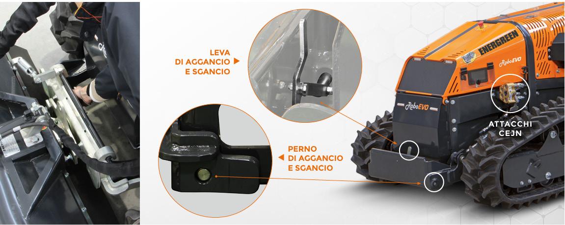 roboevo - sollevatore attacchi rapidi - trinciatrice radiocomandata - energreen macchine professionali