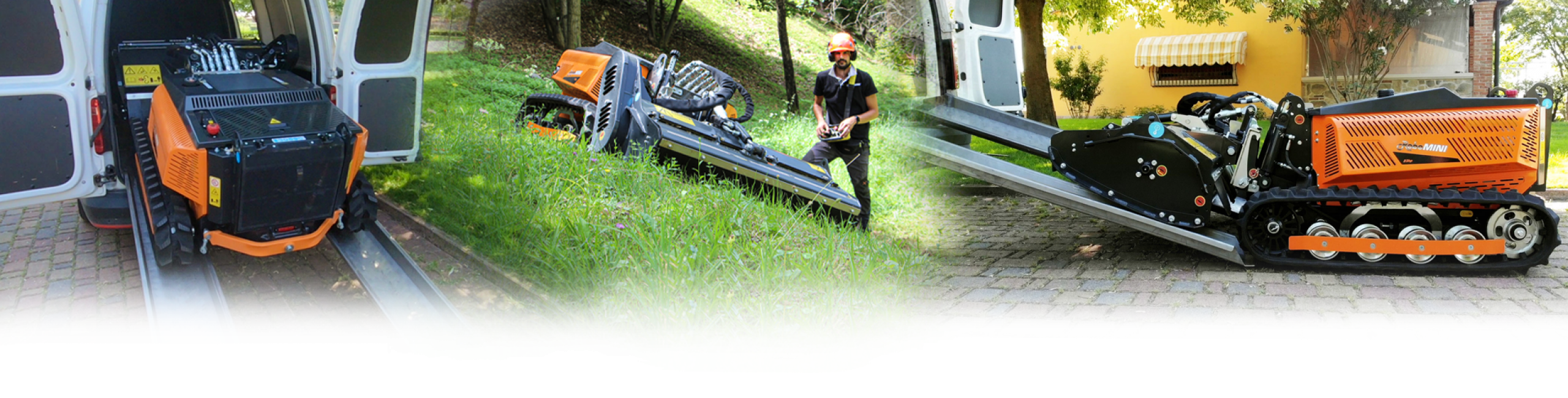 robomini - radiocoamandato compatto - energreen macchine professionali