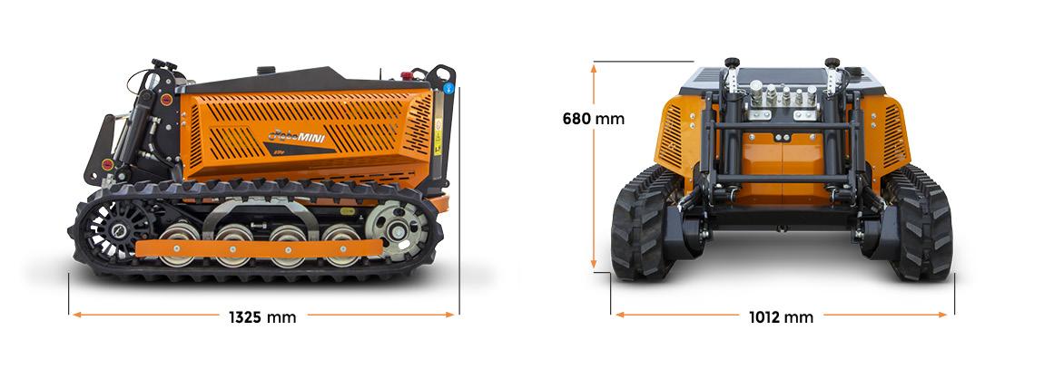 robomini - dimensioni - energreen macchine professionali
