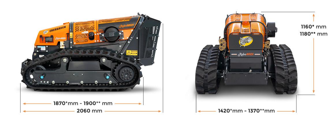 robomidi - porta attrezzi radiocomandato - dimensioni - macchina multifiunzione - energreen macchine professionali
