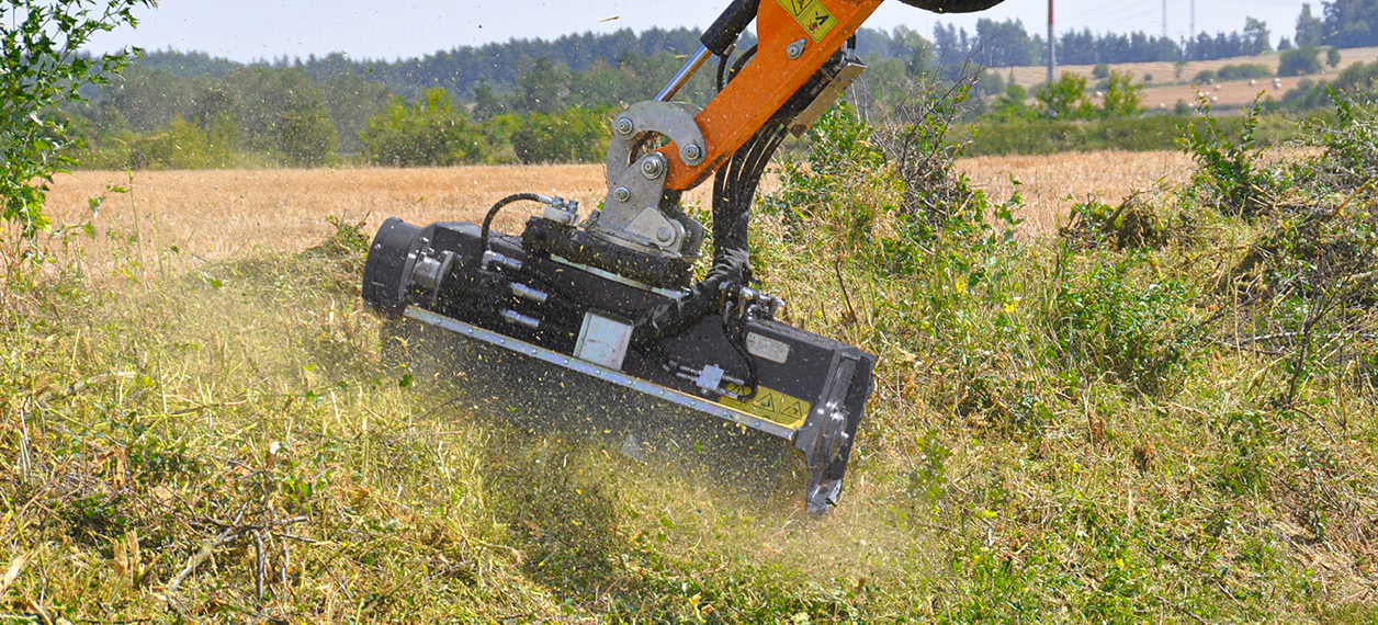 attrezzature professionali - new speed - testata trinciante - lavori forestali - energreen macchine professionali