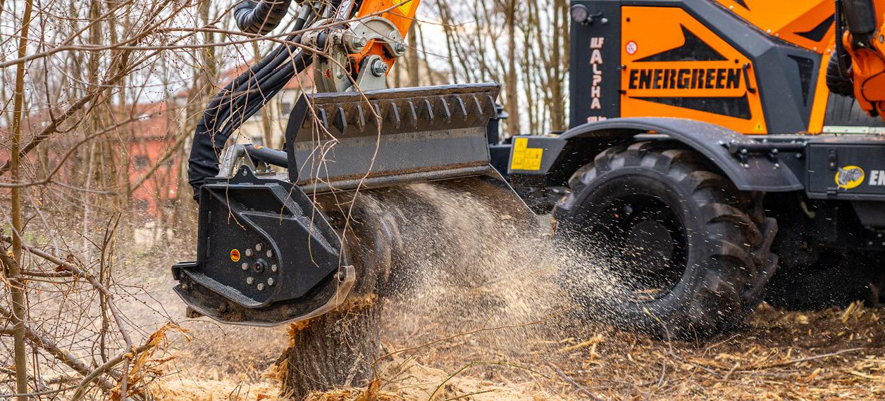 attrezzature professionali - testata forestale - lavori forestali - energreen macchine professionali