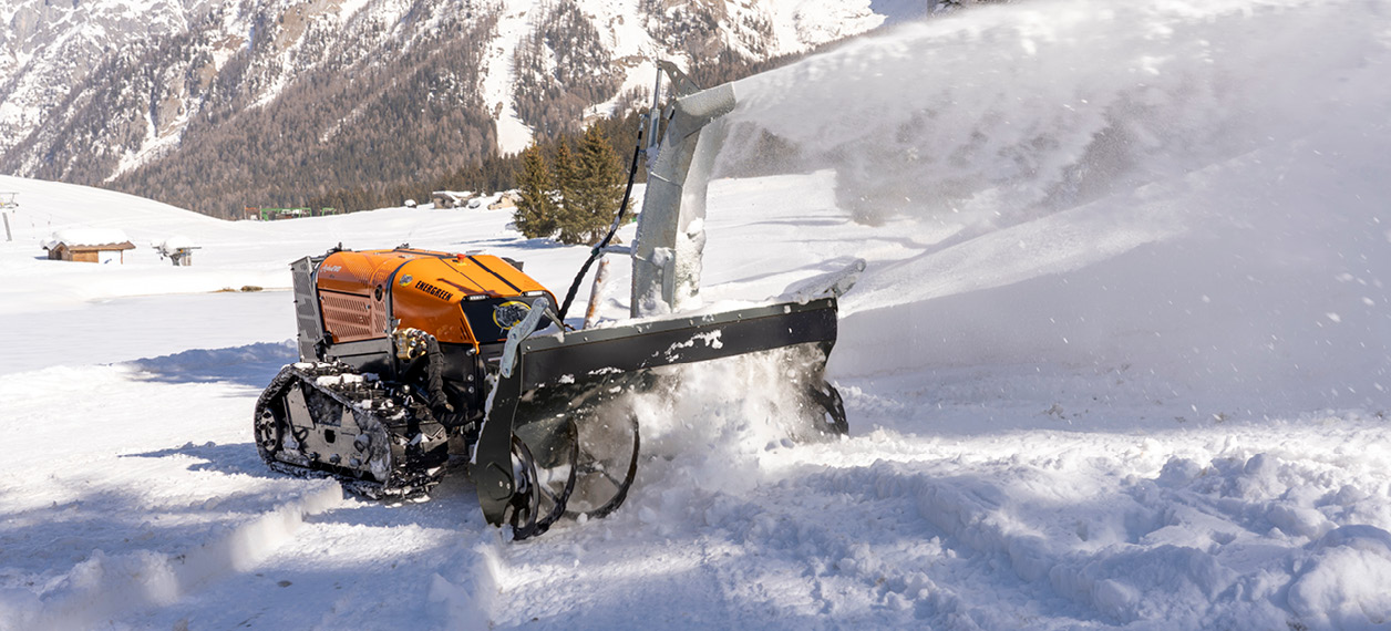 robo - roboevo - turbofresa - snow blower - lavori invernali - energreen macchine professionali