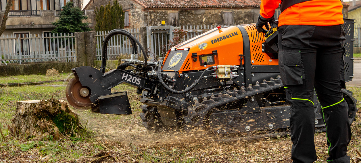 robo - roboevo - stump grinder - fresa ceppi - lavori forestali - energreen macchine professionali